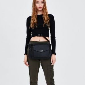 Zara buckle belt top